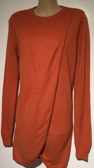 ASOS ORANGE LONG WRAP NURSING JUMPER TOP SIZE 8-10